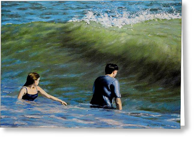 Surf Play Greeting Card