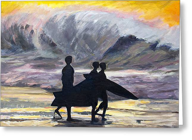 Surf Riders Greeting Card