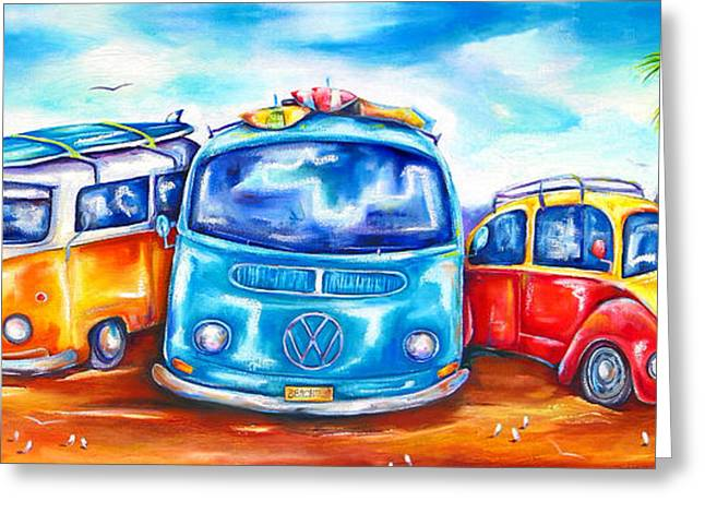 Surf Wagons Greeting Card