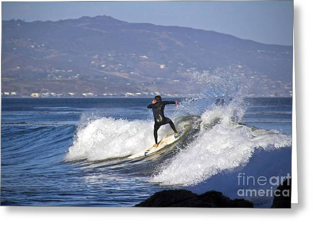 Surfer Greeting Card by Molly Heng