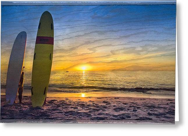 Surfers' Dreams Greeting Card by Debra and Dave Vanderlaan