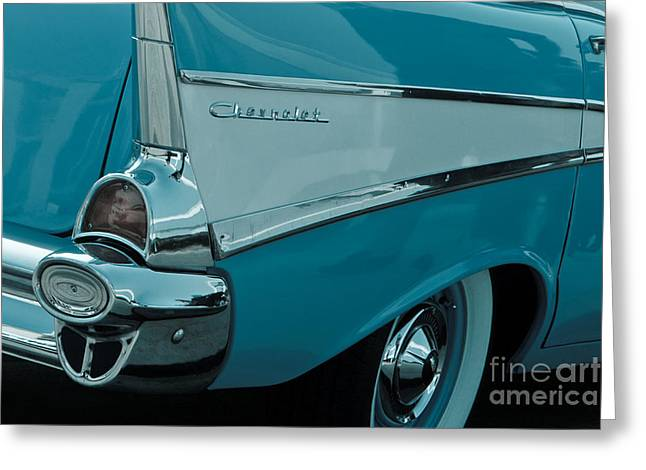 Surfin Chevy Rear Greeting Card by Carl Jackson