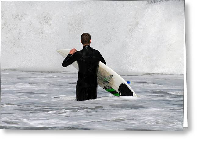 Surfing 397 Greeting Card