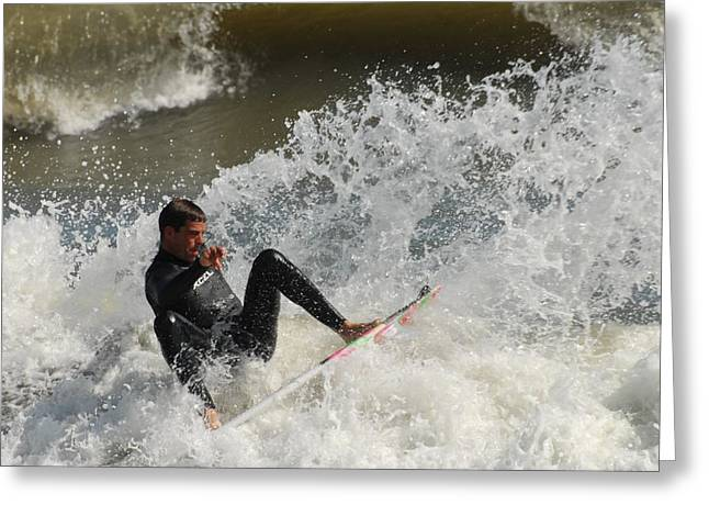 Surfing 406 Greeting Card