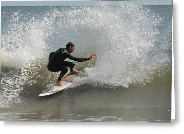 Surfing 410 Greeting Card by Joyce StJames