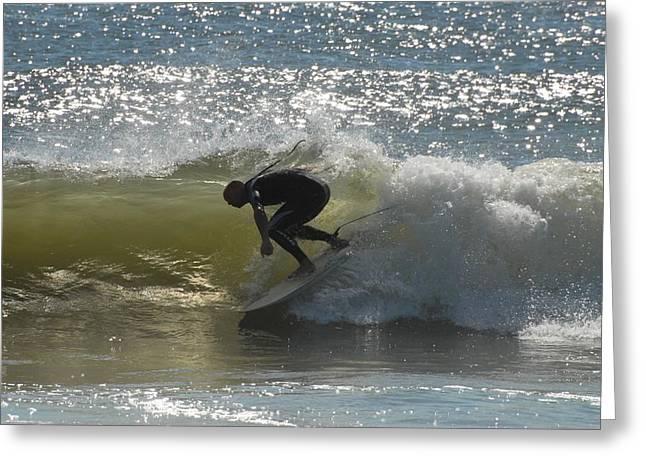 Surfing 413 Greeting Card by Joyce StJames