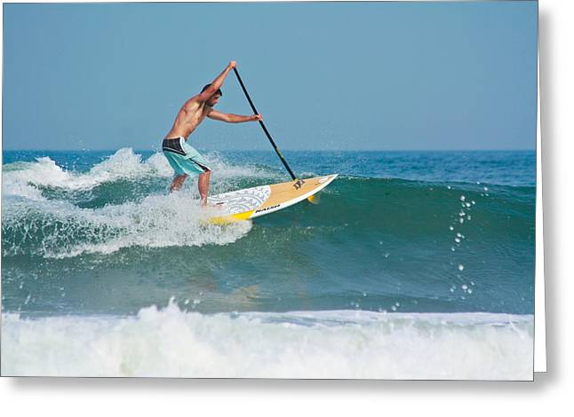 Surfing And Paddling Greeting Card
