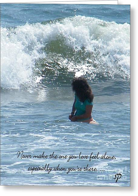 Surfing Eyes Greeting Card by Laurence Oliver