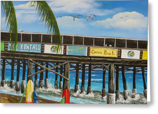 Surfs Up Greeting Card by Bruce Reigle