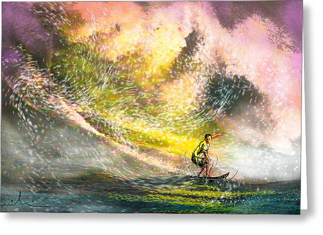 Surfscape 02 Greeting Card by Miki De Goodaboom