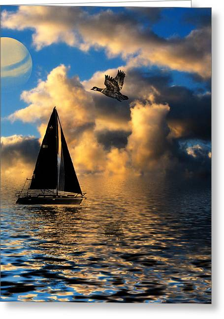 Greeting Card featuring the photograph Surreal Seaside by Cindy Haggerty