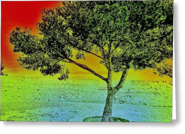 Surreal Tree I. Greeting Card by Marianna Mills