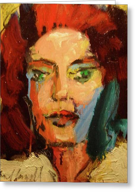 Greeting Card featuring the painting Susan by Les Leffingwell