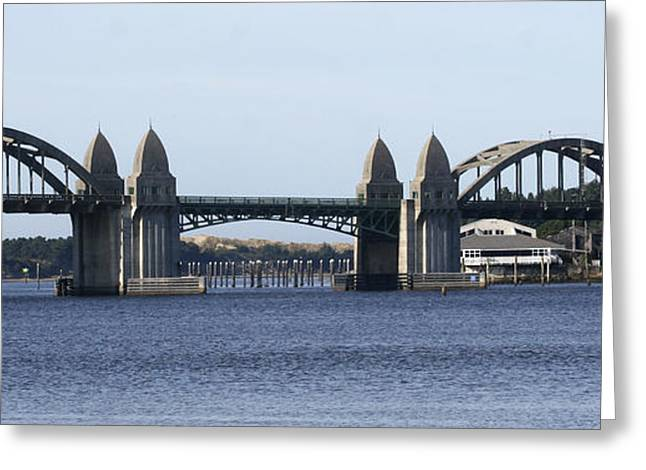 Suslaw Bridge Panorama Greeting Card by Mary Gaines