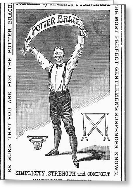 Suspenders, 1888 Greeting Card