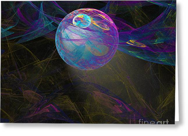Greeting Card featuring the digital art Suspension by Victoria Harrington