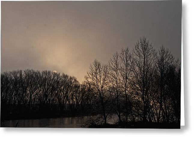 Susquehanna River Sunrise Greeting Card