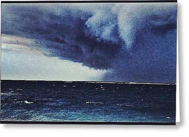 #svcstorms #hurrican #ike Is On Its Way Greeting Card by Andy Lee