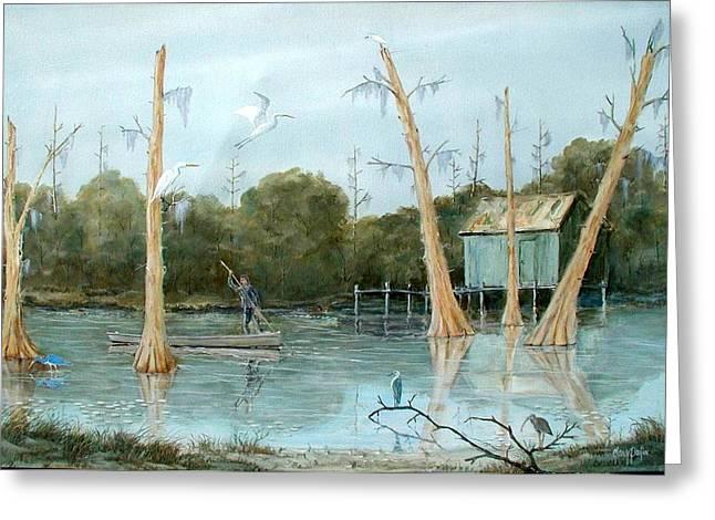 Swamp Bayou Greeting Card