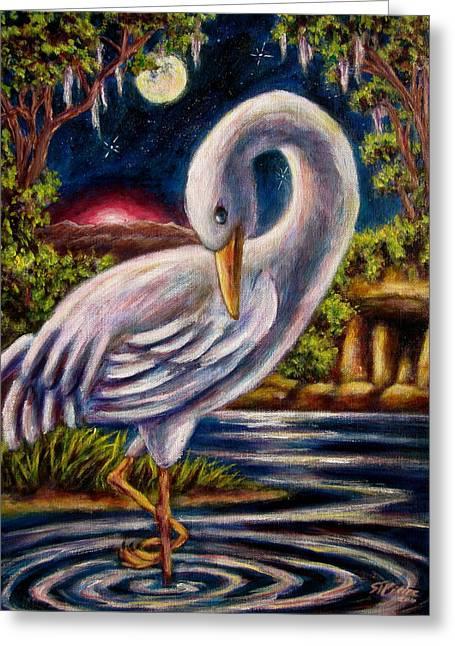 Swamp Crane Greeting Card