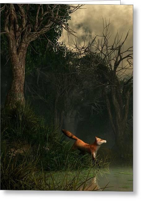 Swamp Fox Greeting Card by Daniel Eskridge