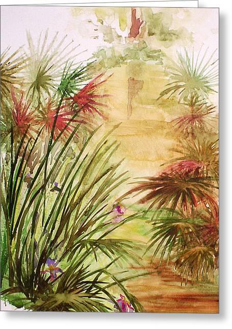 Swamp Iris Greeting Card