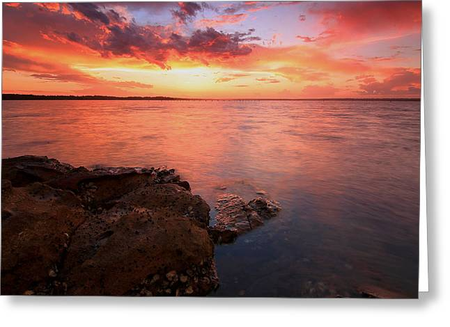Swan Bay Sunset 2 Greeting Card
