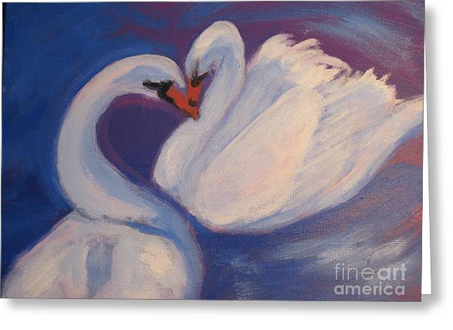 Swan Kiss Greeting Card