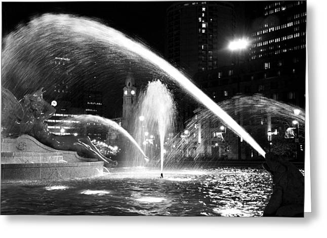 Swann Memorial Fountain Greeting Card by Andrew Dinh