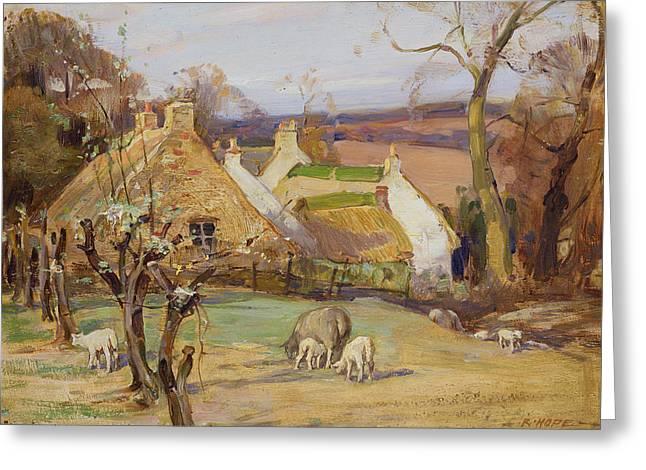 Swanston Farm Greeting Card by Robert Hope