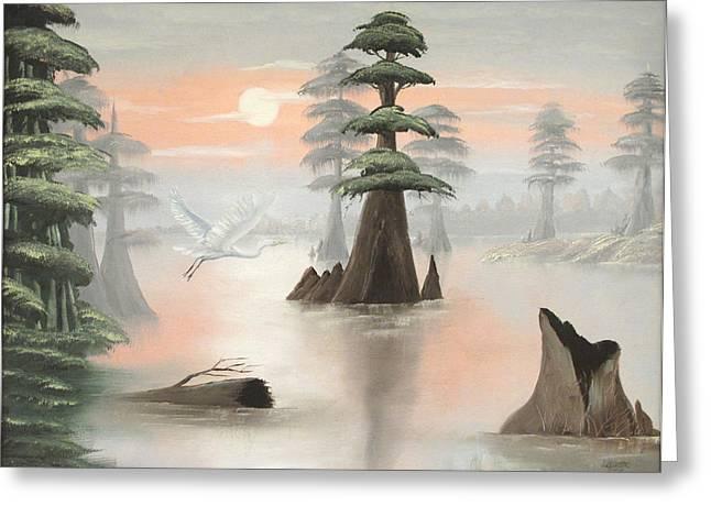 Sweeping Through Henderson Swamp Greeting Card by Julliette Salter