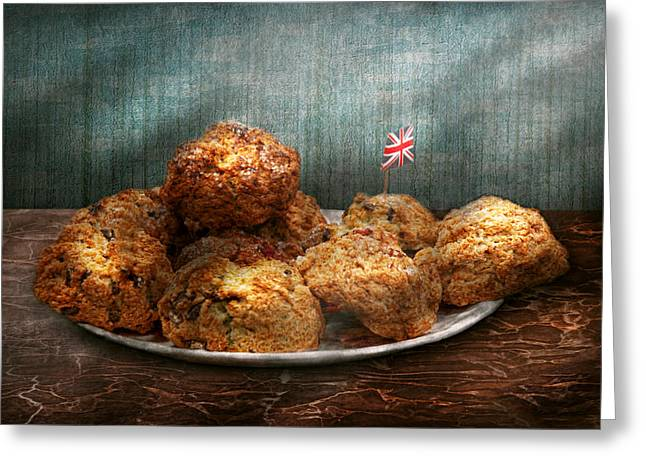 Sweet - Scone - Scones Anyone Greeting Card by Mike Savad