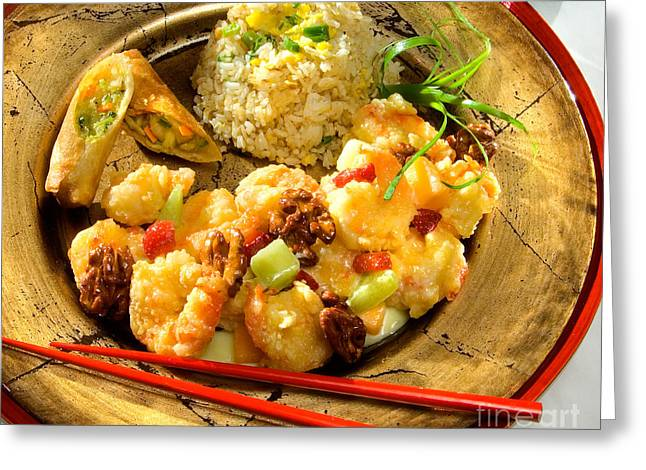 Sweet And Sour Shrimp Greeting Card