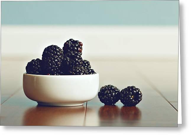 Sweet Blackberries Greeting Card by Amelia Matarazzo