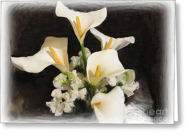 Sweet Calla Lilies Greeting Card