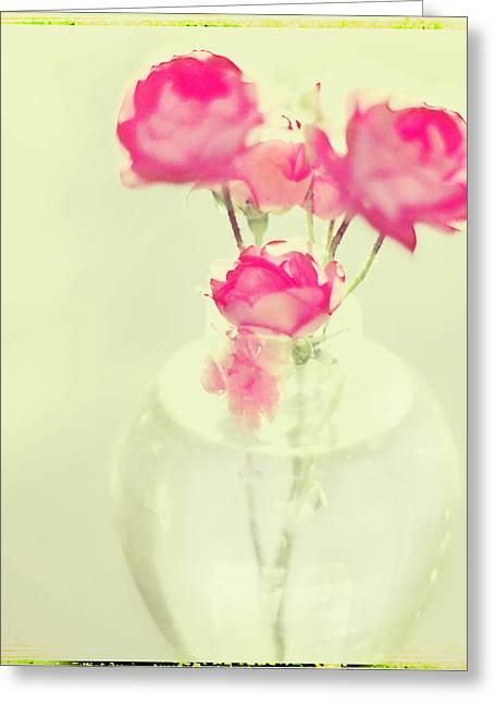 Sweet Fairy Rose Greeting Card by Linde Townsend