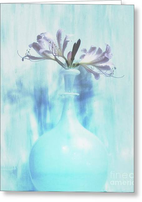 Sweet Fragrant Lilies Greeting Card by Marsha Heiken