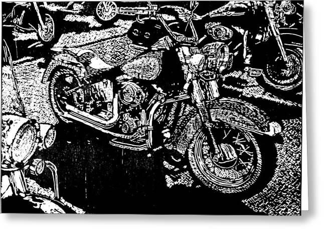 Sweet Ride Greeting Card by John Tate