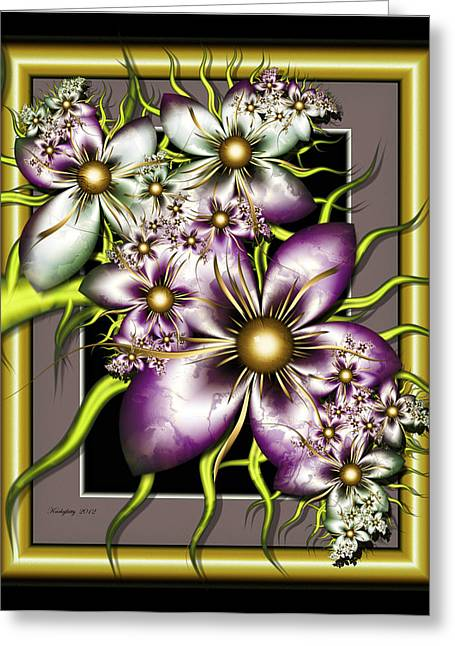 Sweet Sampler Greeting Card by Karla White