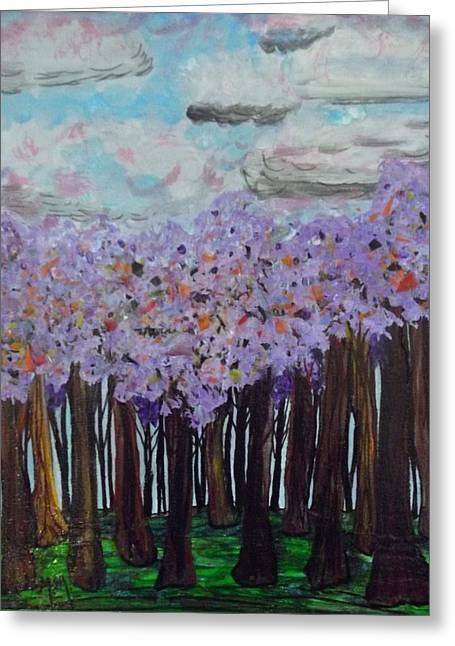 Sweet Trees Greeting Card by Megan Ford-Miller