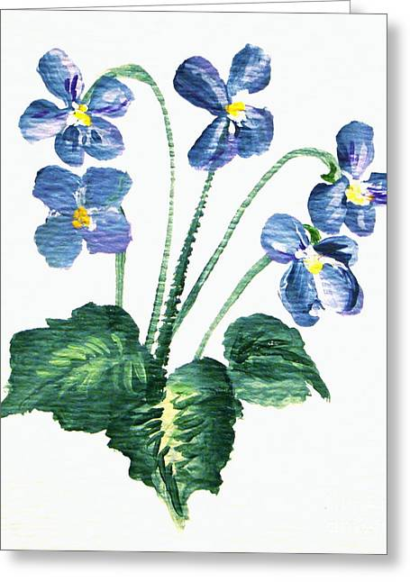 Sweet Violets Greeting Card