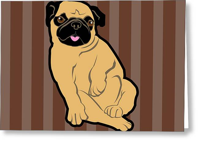 Sweetie Pug Greeting Card by Mary Ogle