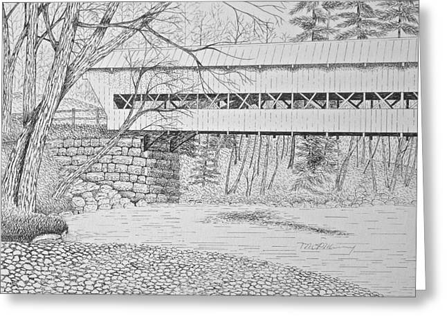 Swift River Bridge Greeting Card by Tim Murray