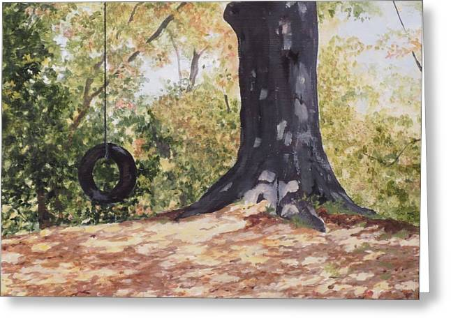 Swing Time Greeting Card by Carla Dabney