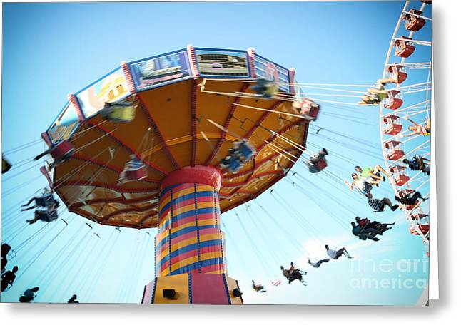 Swings Greeting Card by Leslie Leda