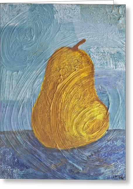 Swirling Pear Greeting Card by Wayne Potrafka