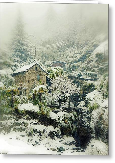 Switzerland In Winter Greeting Card by Joana Kruse