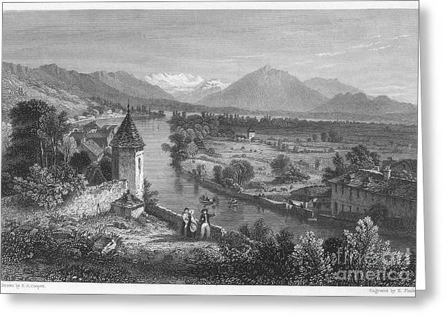 Switzerland: Thun, 1833 Greeting Card by Granger