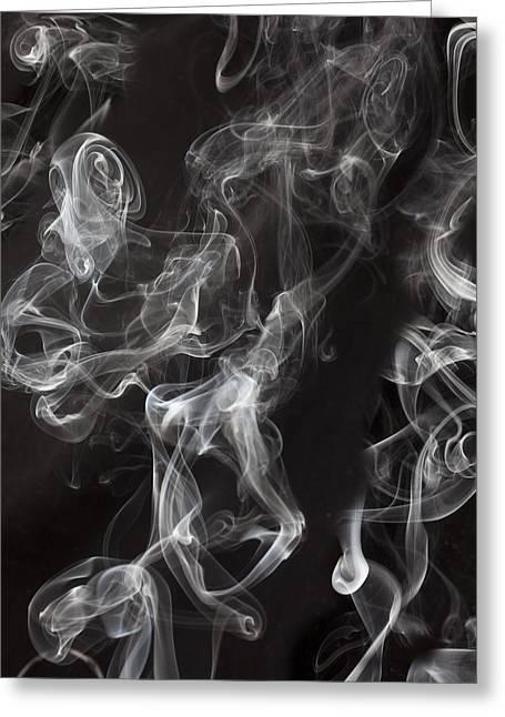 Swriling Smoke  Greeting Card by Garry Gay