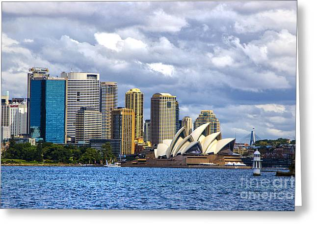 Sydney Harbour One Greeting Card by Rick Bragan